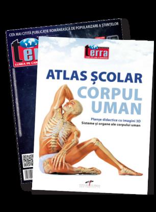 Pachet X - Atlas Coepul uman + Revista Terra Magazin