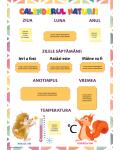 Clasa pregătitoare. Calendarul naturii - foaia 1.