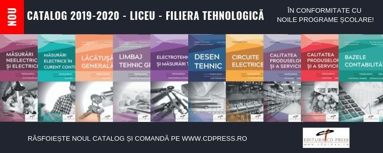 Catalog manuale liceu, filiera tehnologica